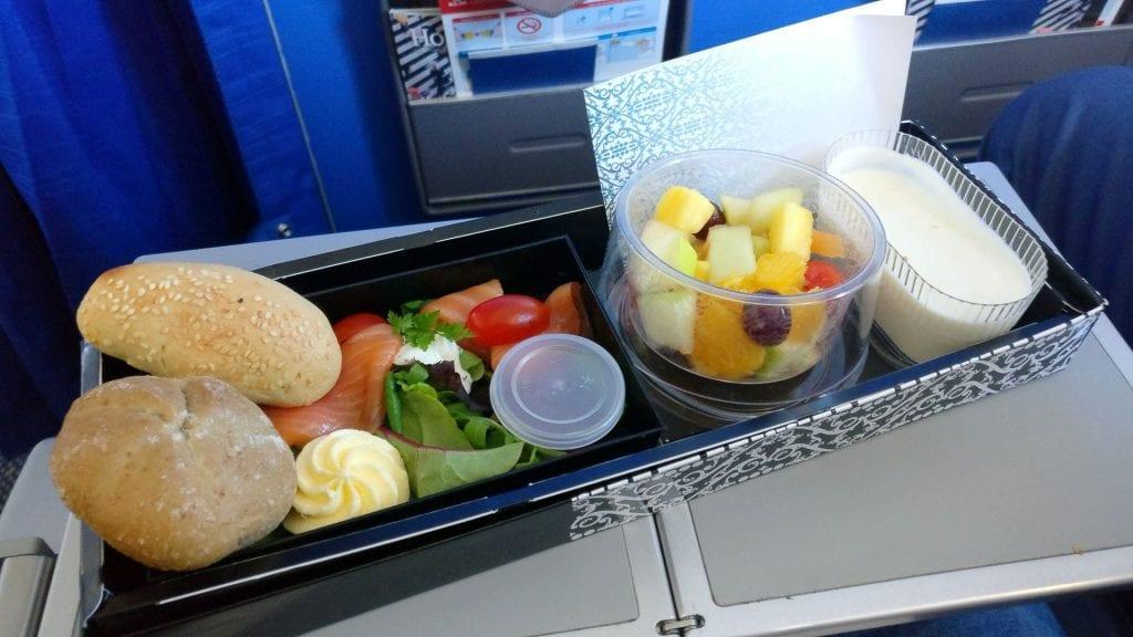 KLM Business Class Frühstück