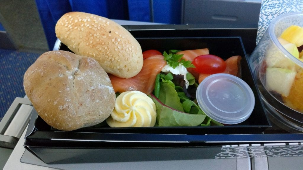 KLM Business Class Frühstück 2