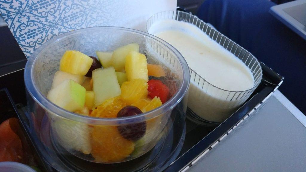 KLM Business Class Frühstück 3