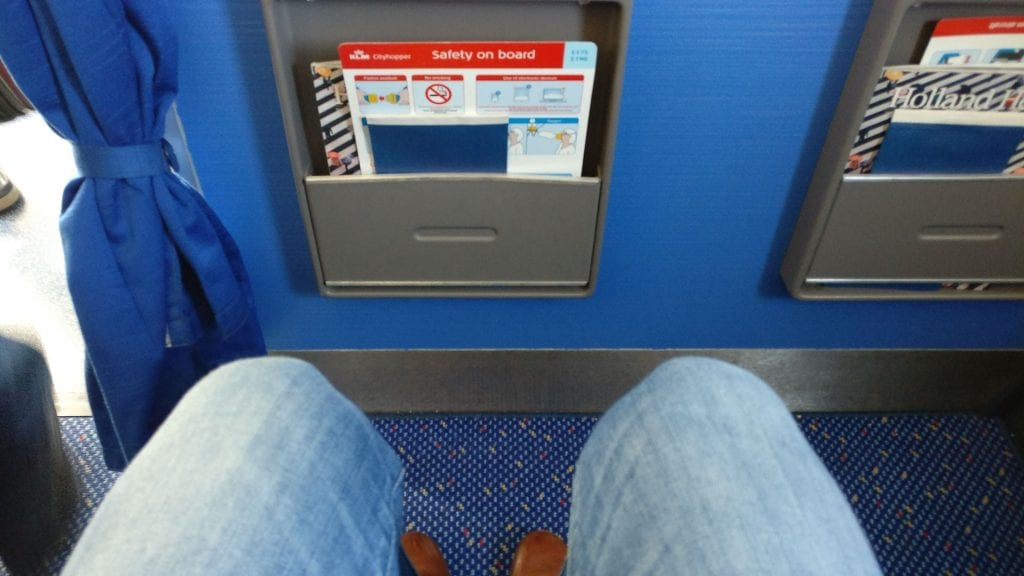 KLM Business Class Kurzstrecke Sitzabstand