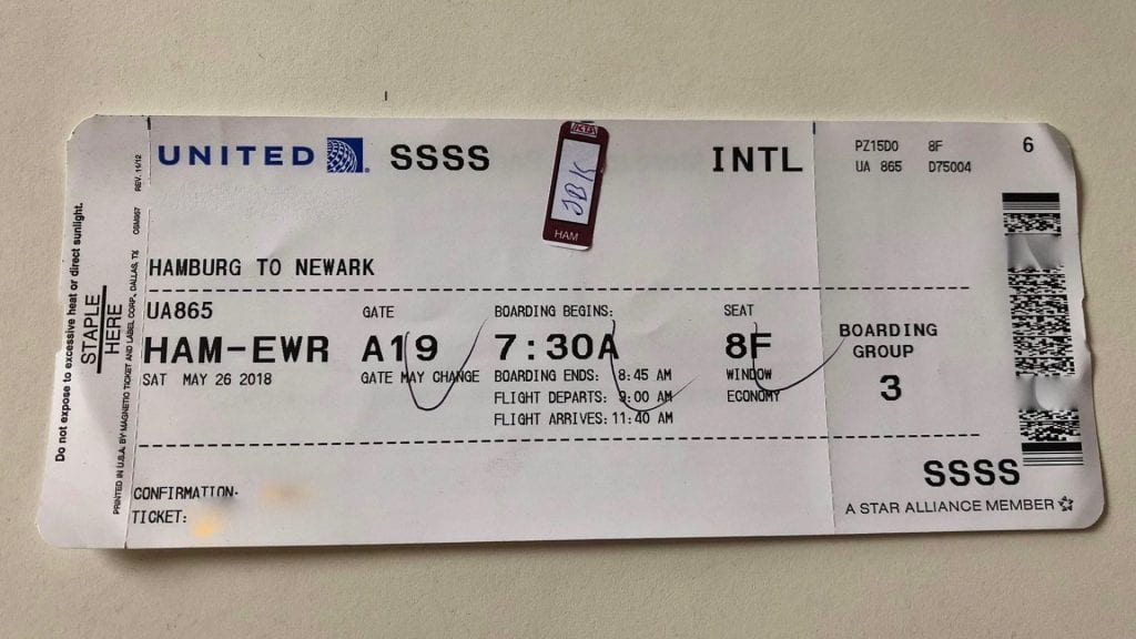 SSSS Boarding Pass United Airlines
