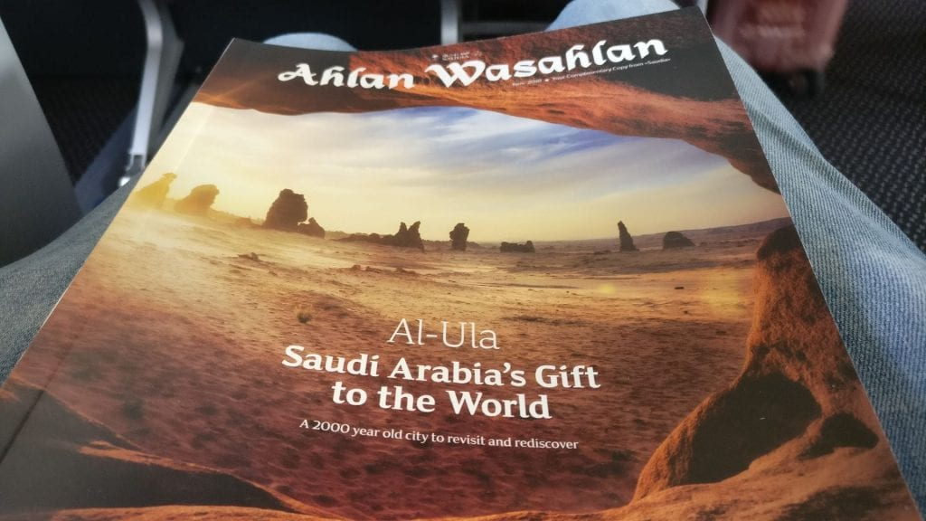 Saudia Business Class Airbus A320 Board Magazine