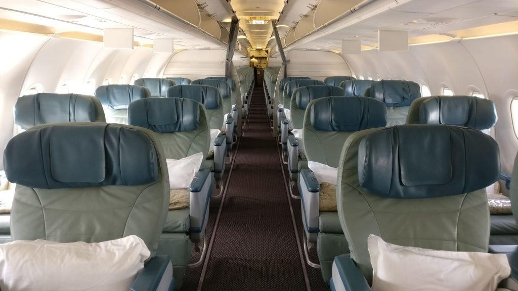 Saudia Business Class Airbus A320 Cabin