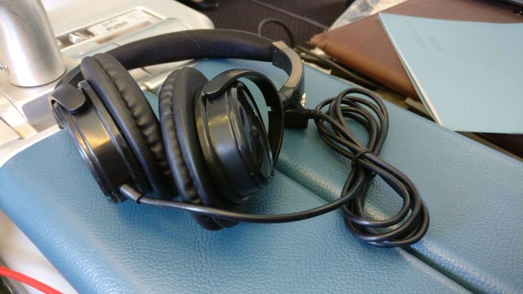 Saudia Business Class Airbus A320 Headphones