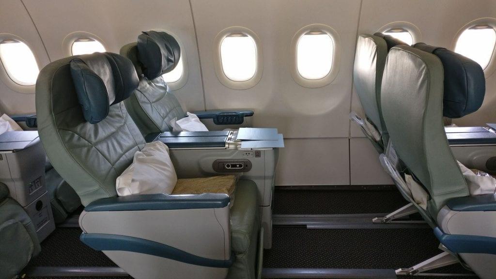 Saudia Business Class Airbus A320 Sitz 2