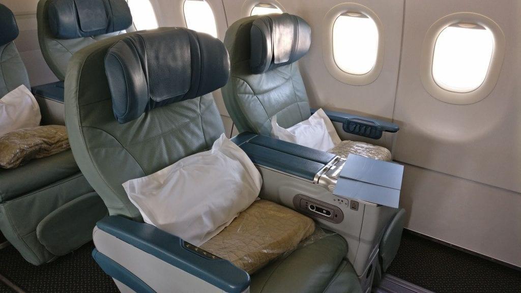 Saudia Business Class Airbus A320 Sitz 3