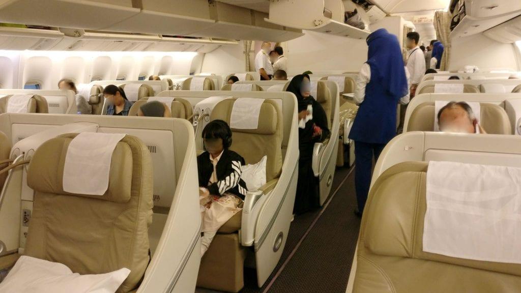 Saudia Business Class Boeing 777 Kabine