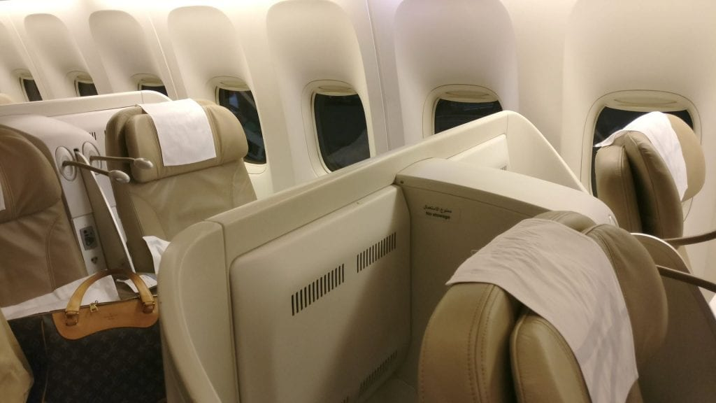 Saudia Business Class Boeing 777 Sitz 2
