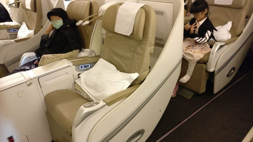 Saudia Business Class Boeing 777 Sitz 3