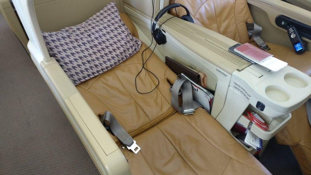 Singapore Airlines Business Class Airbus A330 Bett