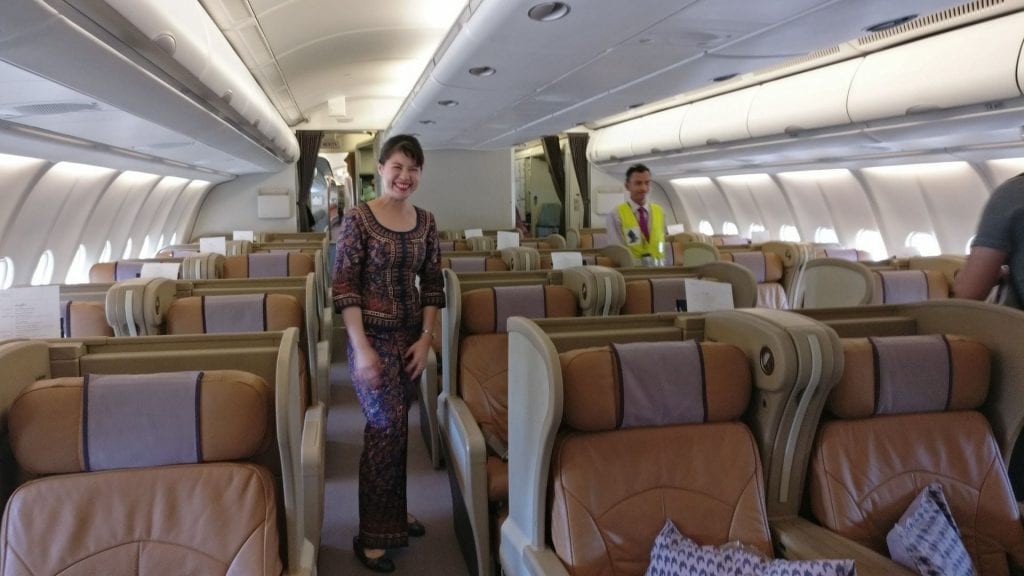 Singapore Airlines Business Class Airbus A330 Kabine