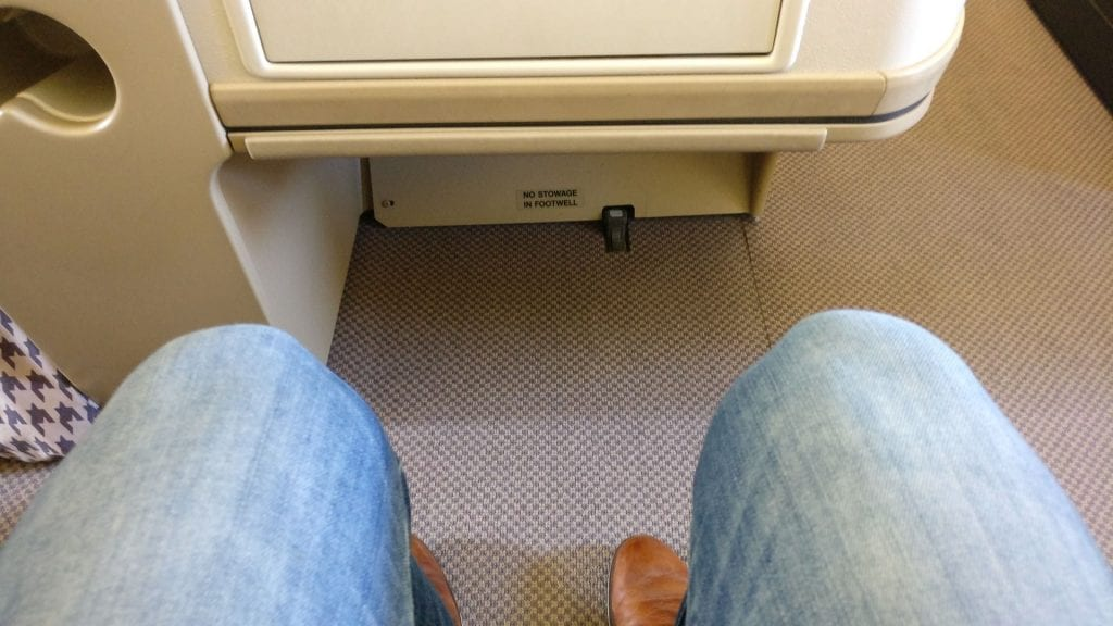 Singapore Airlines Business Class Airbus A330 Seat Pitch 2