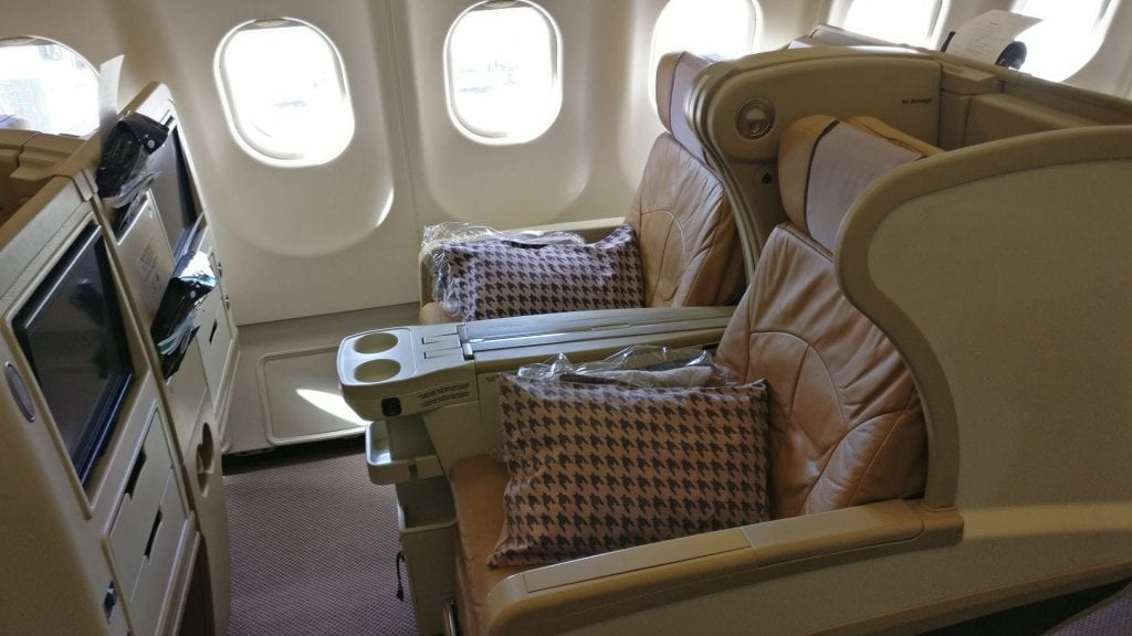 Singapore Airlines Business Class Airbus A330 Sitz