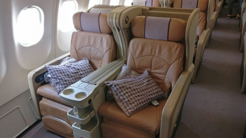 Singapore Airlines Business Class Airbus A330 Sitz 2