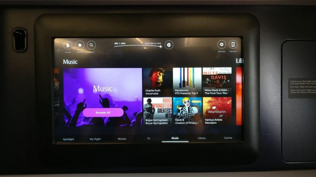 Singapore Airlines Business Class Airbus A380 Entertainment 4