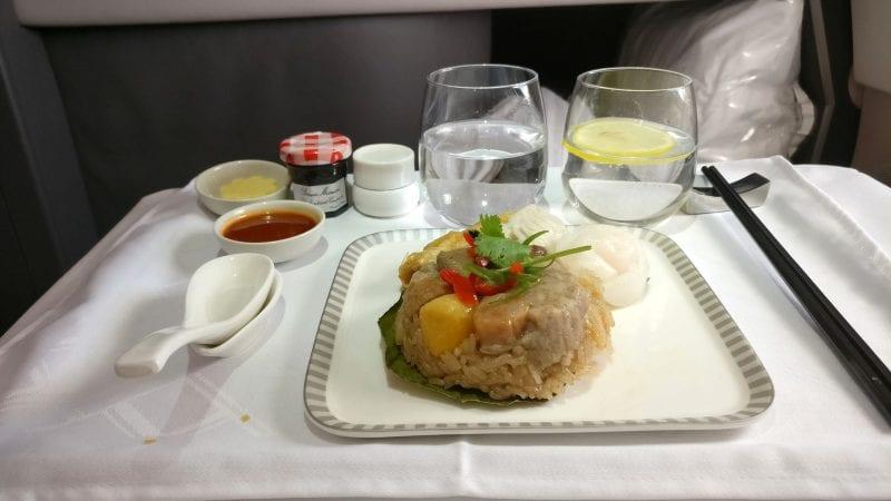 Singapore Airlines Business Class Airbus A380 Frühstück 4