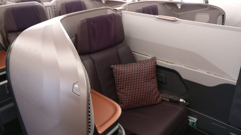 Singapore Airlines Business Class Airbus A380 Sitz 6