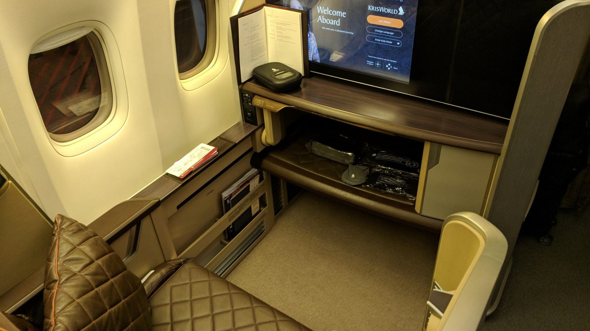 Singapore Airlines First Class Sitz (2)