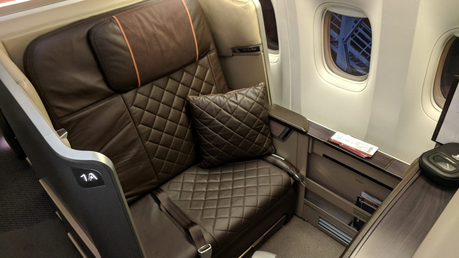 Singapore Airlines First Class Sitz (3)