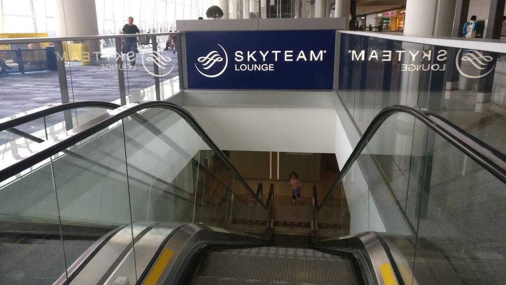SkyTeam Lounge Hongkong Eingang