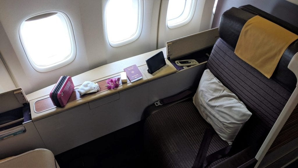 Thai Airways Boeing 747 First Class