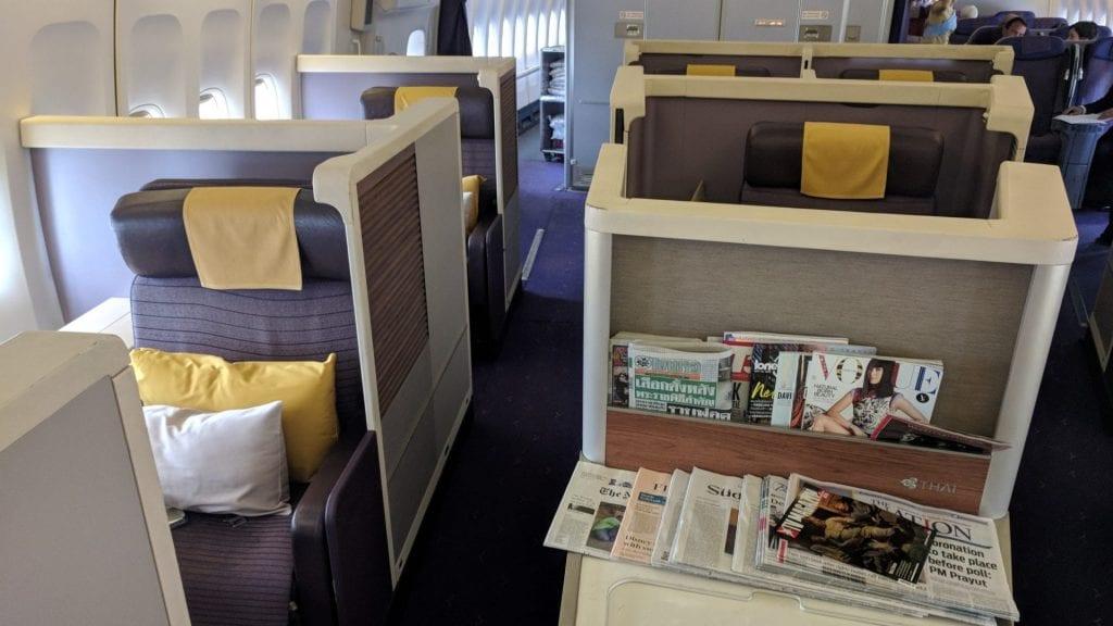 Thai Airways Boeing 747 First Class Kabine