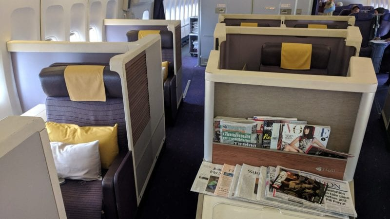 Thai Airways Boeing 747 First Class Kabine