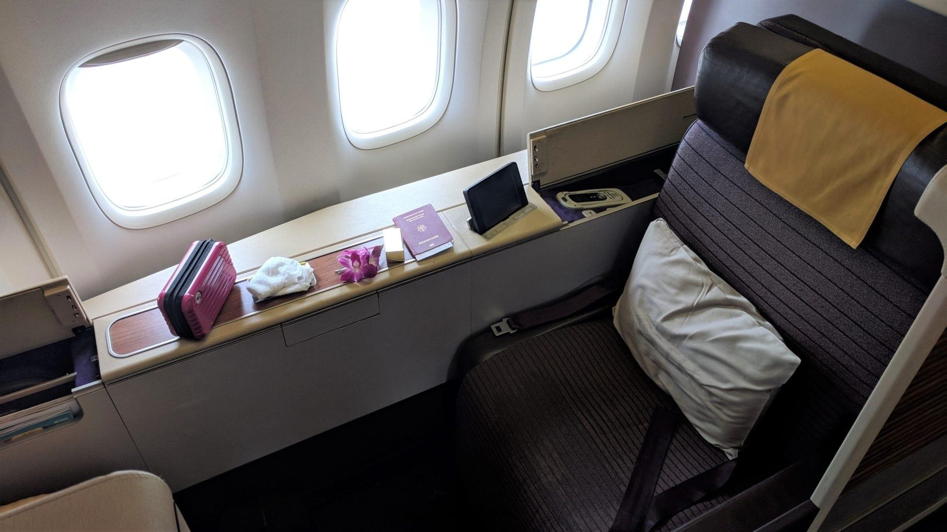 Thai Airways Boeing 747 First Class