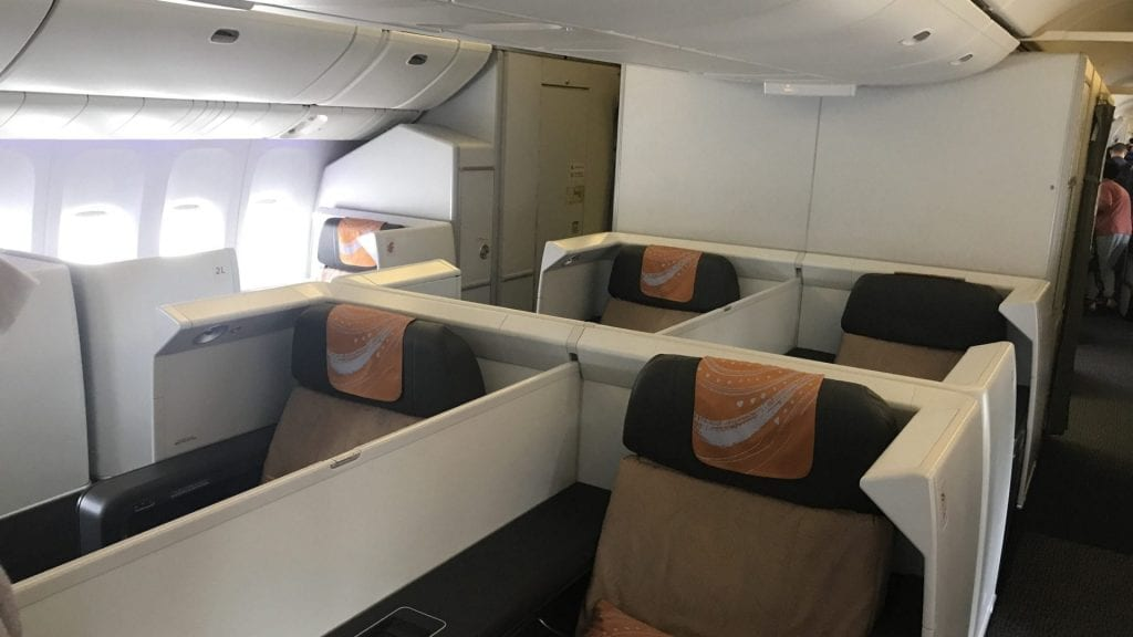 Air China First Class Boeing 777 Kabine