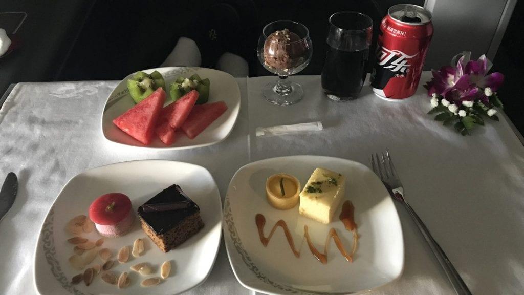 Air China First Class Dessert