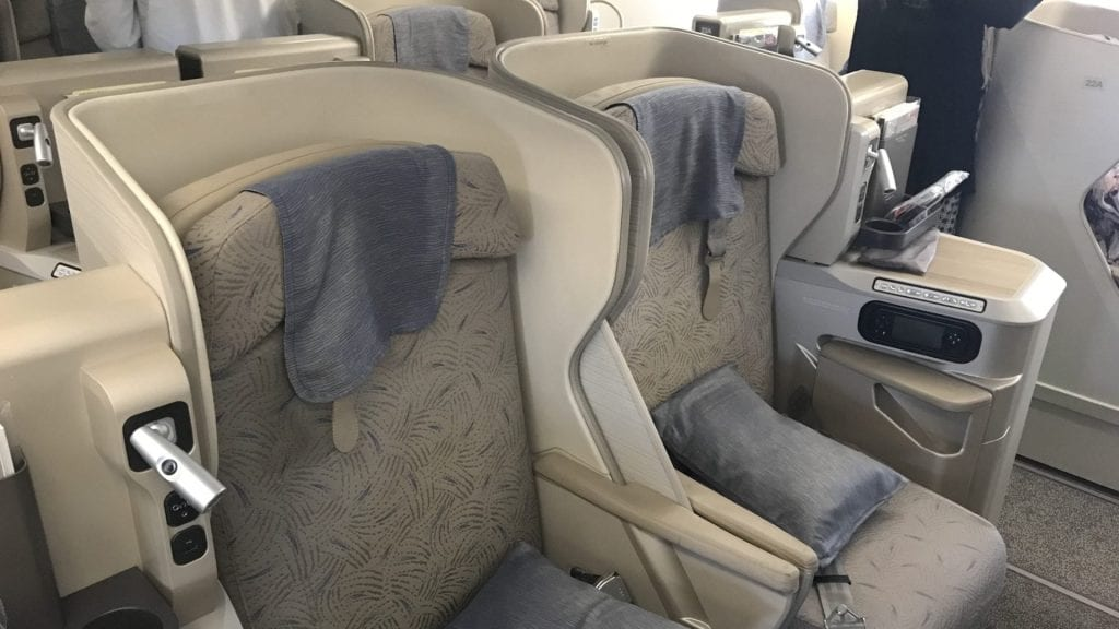 Asiana Business Class Airbus A380 Honeymoon Sitze