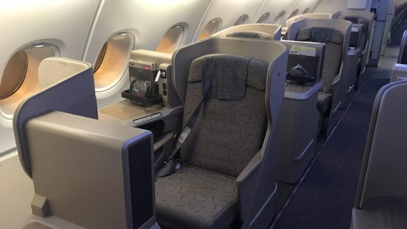 Asiana Business Class Airbus A380 Kabine