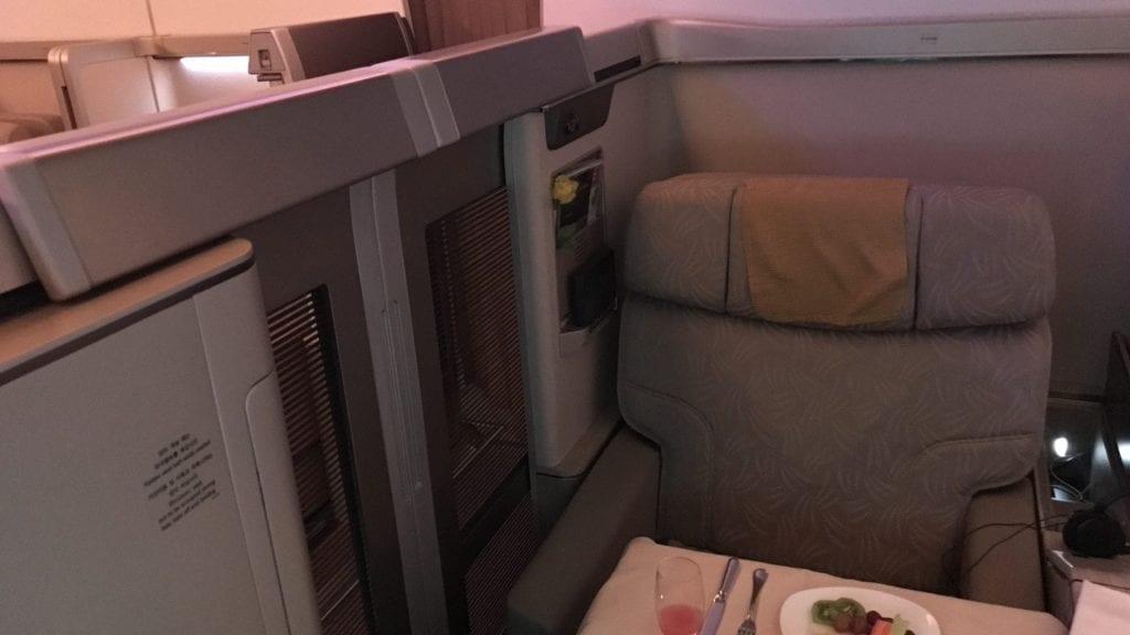 Asiana First Class Airbus A380 Geschlossene Türen