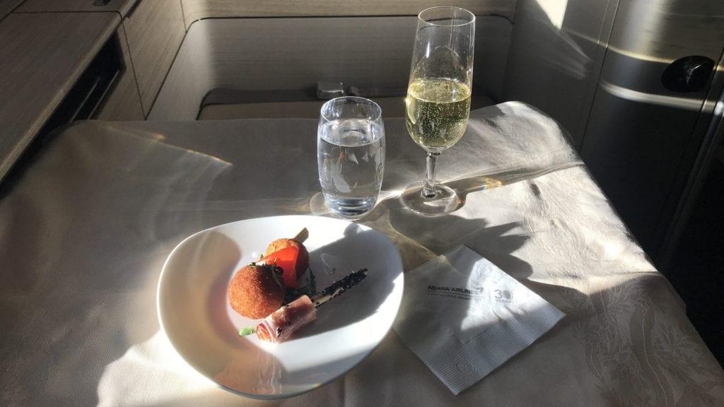 Asiana First Class Airbus A380 Gruss Aus Der Küche
