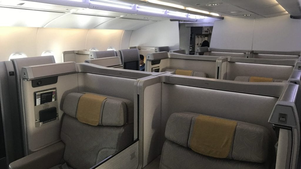 Asiana First Class Airbus A380 Kabine
