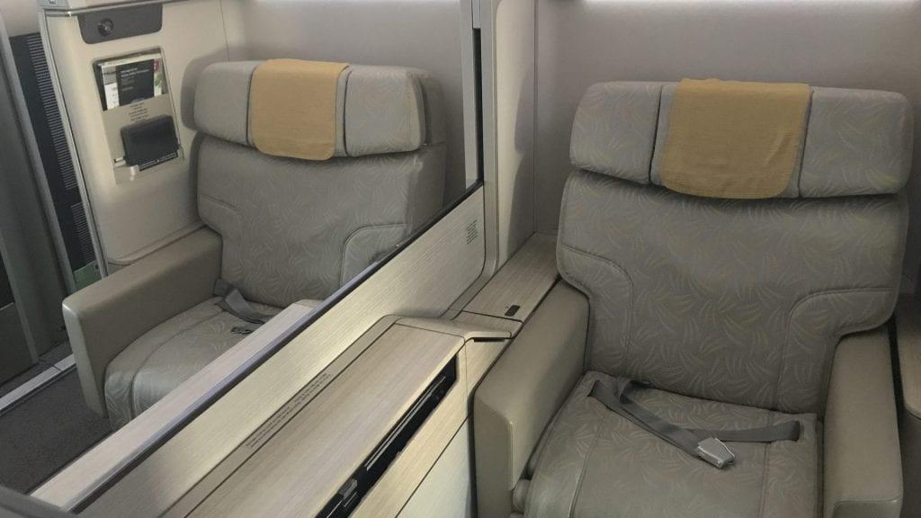 Asiana First Class Airbus A380 Mittelsitze 2