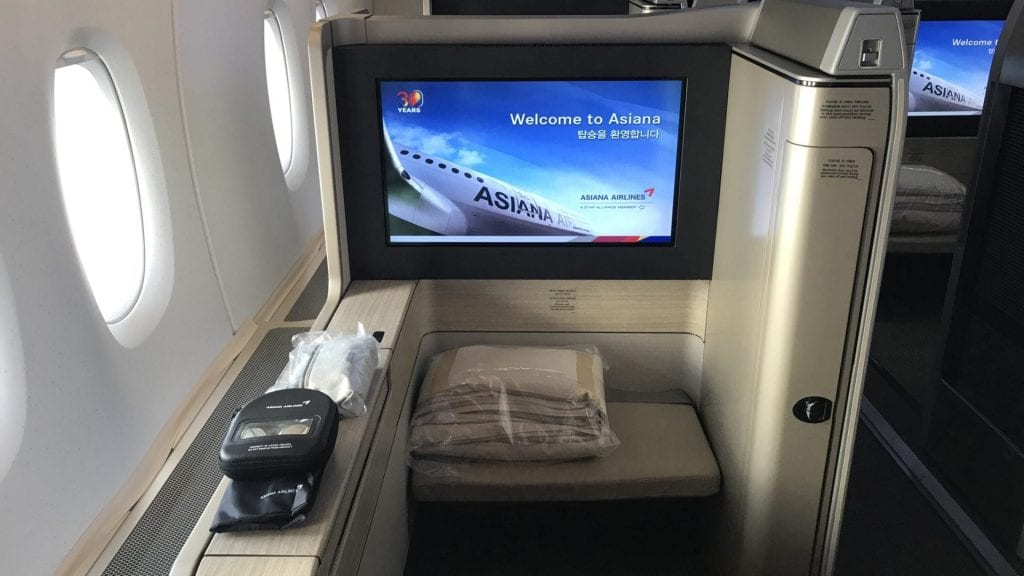 Asiana First Class Airbus A380 Sitz 1