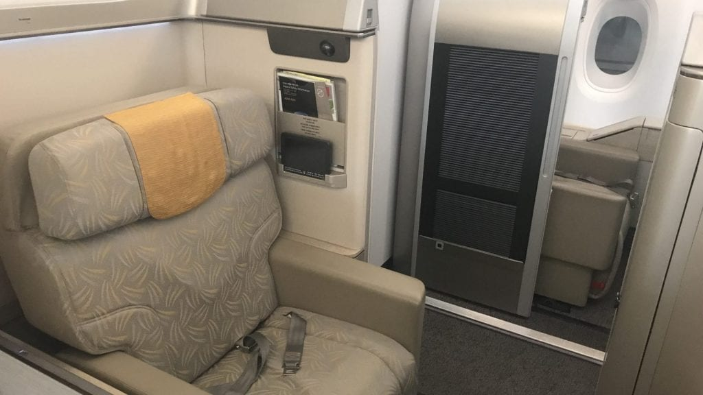 Asiana First Class Airbus A380 Sitz 5