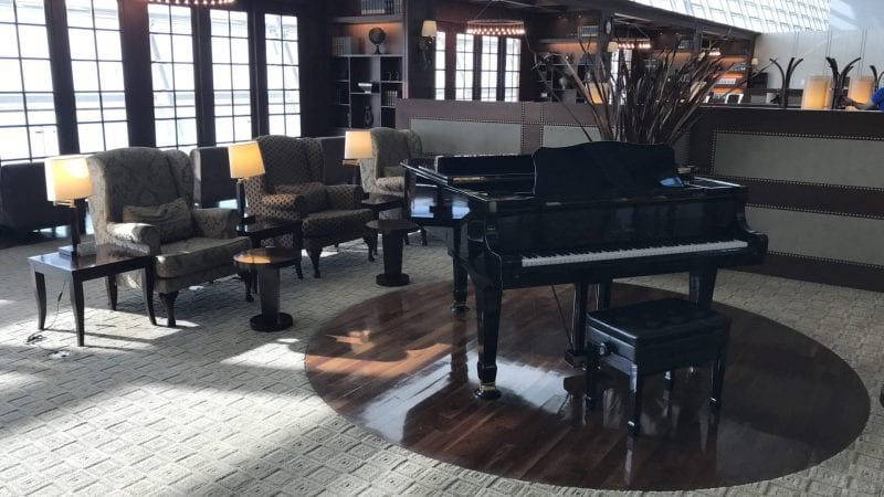 Asiana First Class Lounge Seoul Piano