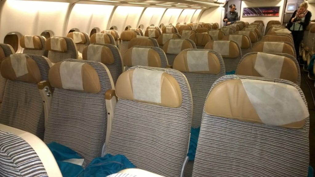 Etihad Economy Class Airbus A330 Kabine