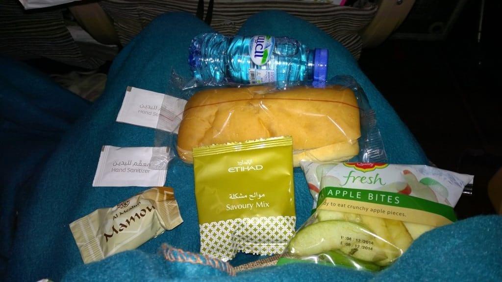 Etihad Economy Class Airbus A330 Snack