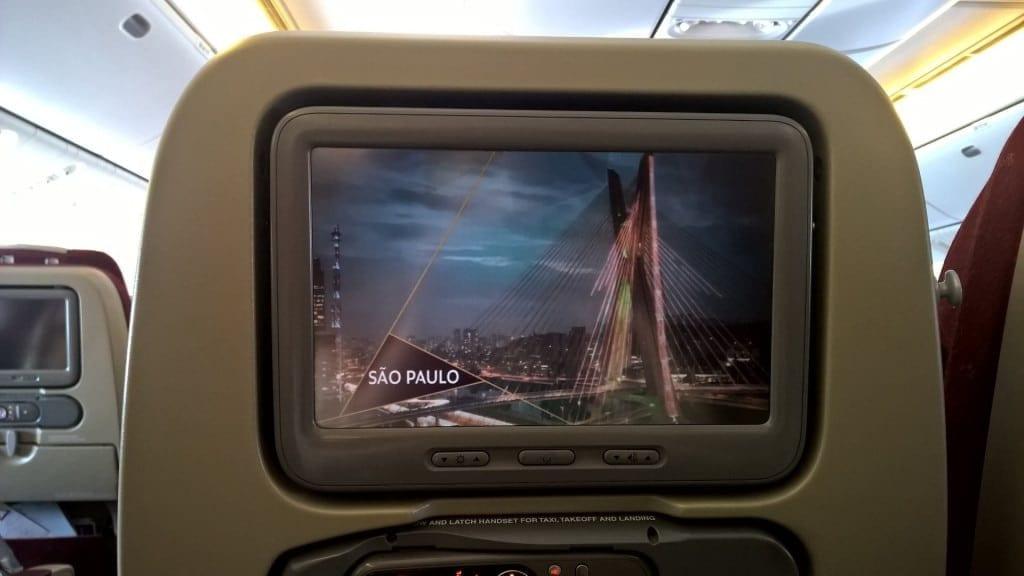 Etihad Economy Class Airbus A330 Unterhaltungssystem