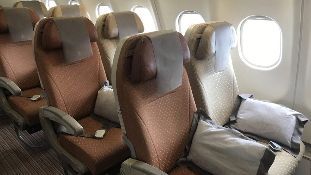Singapore Airlines Economy Class Airbus A330 Sitz