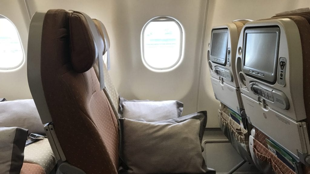 Singapore Airlines Economy Class Airbus A330 Sitz 2