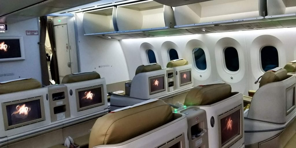 Air India Business Class Boeing 787 Kabine 3