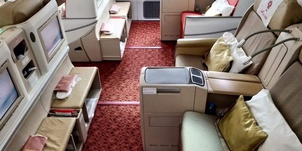 Air India Business Class Boeing 787 Mittelsitze