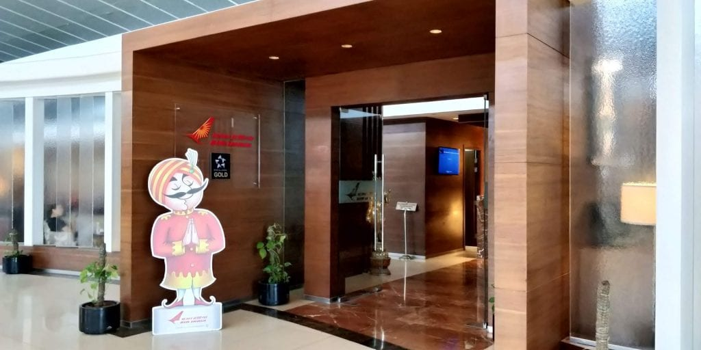 Air India Business Class Lounge Delhi Eingang