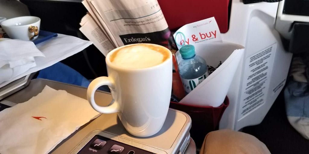 Austrian Airlines Business Class Boeing 777 Cappuccino
