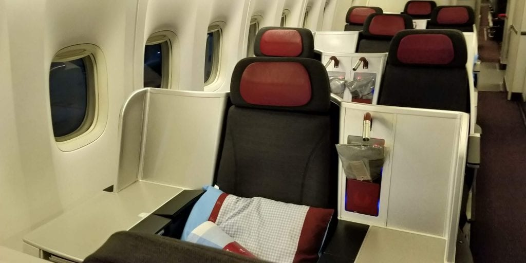 Austrian Airlines Business Class Boeing 777 Einzelsitz