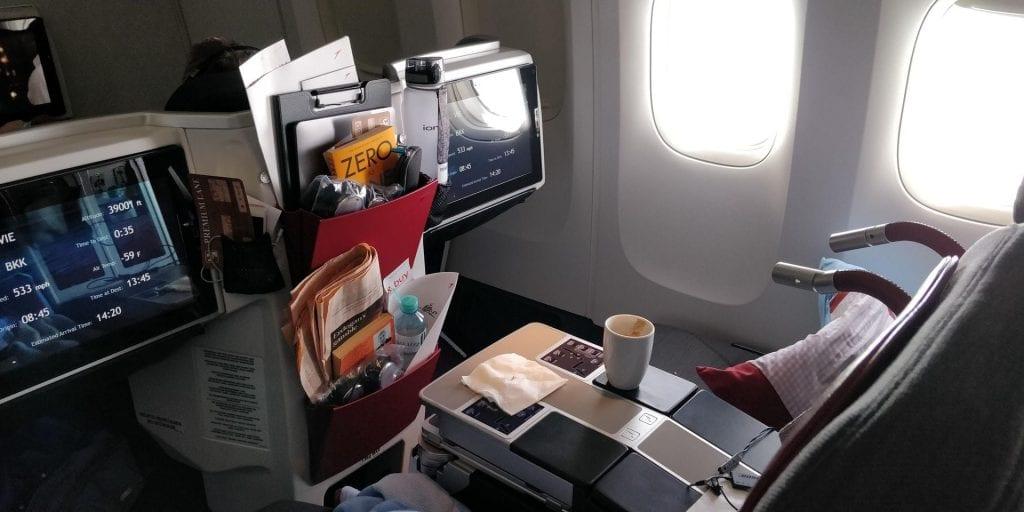 Austrian Airlines Business Class Boeing 777 Fensterplätze